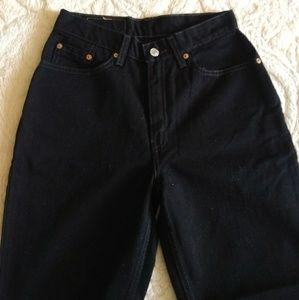 Vintage High Waisted Black Jeans
